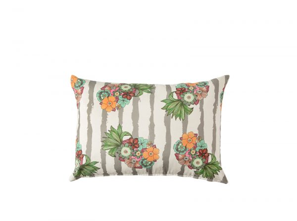 Chica Chica Boom Scatter Cushion Carmen Grey 60x40 Feather Inner